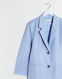 ASOS DESIGN Petite extreme dad suit blazer powder blue