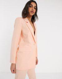 ASOS DESIGN shrunken dad suit peach – suits – blazers