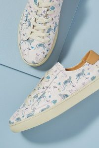 Soludos Leopard-Print Leather Trainers | animal prints