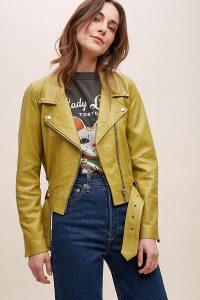 Just Female Leather Biker Jacket Moss / green jackets