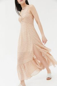 UO Sparklers Floral Chiffon Midi Dress