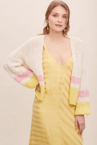 Selected Femme Jana Striped Cardigan ~ drop shoulder cardigans