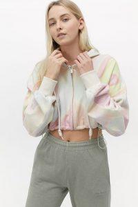 Angel Chen Gradient Print Zip-Through Hoodie ~ cropped hoodies
