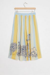 Maeve Ainra Striped A-line Skirt | summer floral skirts