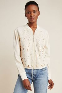 ANTHROPOLOGIE Nina Embroidered Bomber Jacket