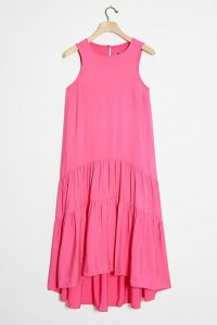 Maeve Marlene Tiered Maxi Dress | pink sundress