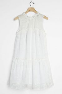 Sunday in Brooklyn Eloisa Eyelet Swing Dress White