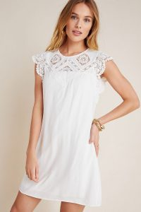 Daniel Rainn Melia Lace Mini Dress White