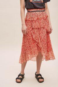 Moliin Anita Printed Skirt Orange Motif