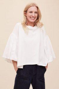 Kowtow Dess Organic-Cotton Puffed-Sleeve Tee White