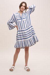 Moliin Thali Striped Dress Blue
