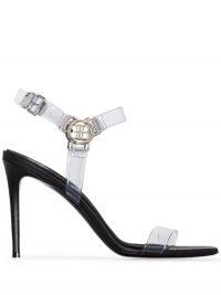 BALMAIN Pernille 95mm sandals – clear PVC strap sandal
