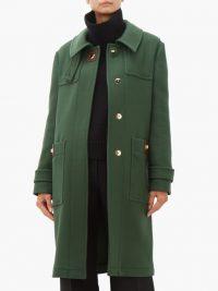 BURBERRY Bulford hooded wool-twill duffle coat in pine green