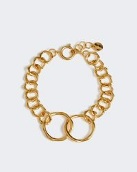 JIGSAW CALLIE LINK BRACELET ~ gold-tone chain jewellery ~ contemporary style