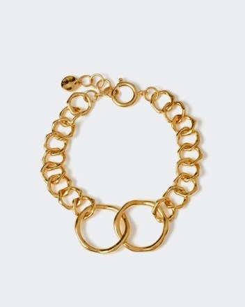 JIGSAW CALLIE LINK BRACELET ~ gold-tone chain jewellery ~ contemporary style - flipped
