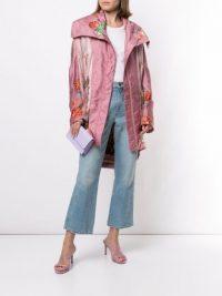 CAMILLA Ziba Print oversized parka | pink statement coat