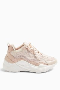 TOPSHOP CANCUN Blush Pink Chunky Trainers