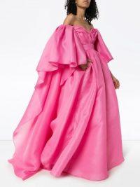 CAROLINA HERRERA pink sweetheart neck gown