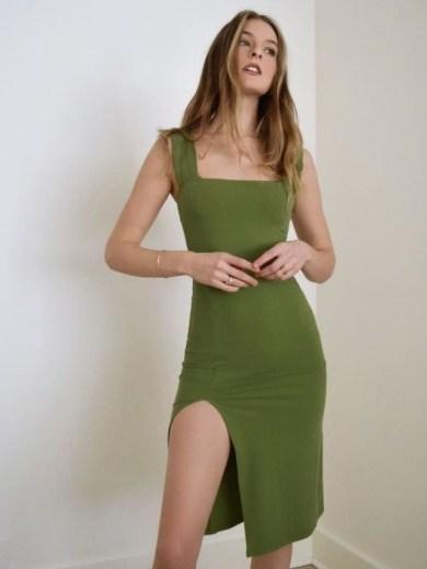 REFORMATION Cassi Dress – Avocado - flipped