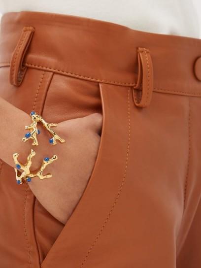CHLOÉ Connie coral cuff ~ gold-tone statement cuffs