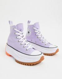 Converse Run Star Hike Hi trainers in lilac