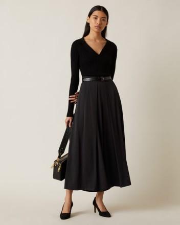 JIGSAW CREPE CULOTTE BLACK ~ chic culottes