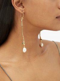 CHLOÉ Crystal-embellished snake drop earrings ~ glamorous drops