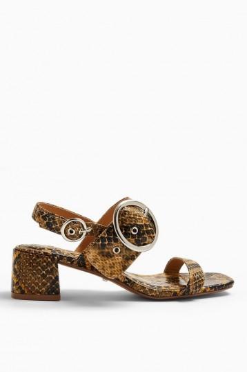 TOPSHOP DAKOTA Snake Buckle Block Sandals
