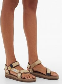 SUICOKE Depa-V2 Velcro-strap sandals in champagne beige ~ summer flats