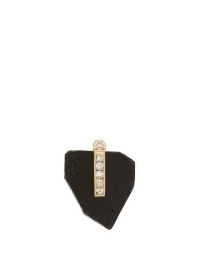 DEZSO Diamond, black tourmaline & 18kt gold pendant ~ contemporary luxe pendants