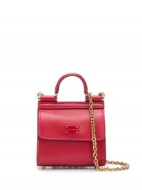 DOLCE & GABBANA Sicily 58 micro bag in red ~ mini crossbody bags
