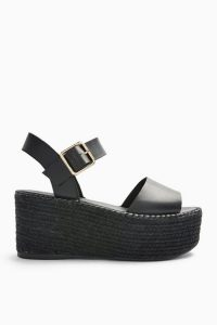 Topshop DOVE Black Espadrille Wedges | chunky wedged slingbacks | summer sandals