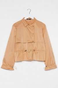 Nasty Gal Draw the Line Cropped Trench Coat Camel