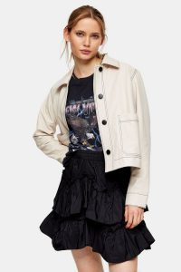 TOPSHOP Ecru Leather Shacket – luxe shackets