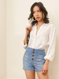 REFORMATION Eloise Short Shasta ~ front button shorts