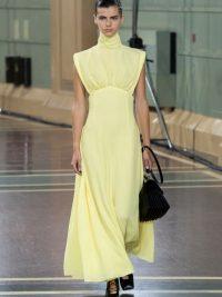EMILIA WICKSTEAD Everly gathered seersucker dress in yellow