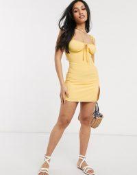 Fashion Union Petite mini cami dress with thigh split