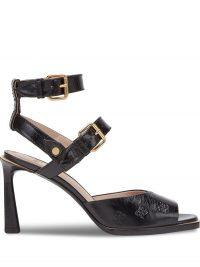 FENDI embossed Karligraphy motif sandals – strappy designer sandal