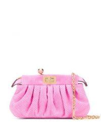 FENDI Pink Peekaboo Click clutch