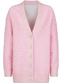 FENDI smocked cardigan | pink ruched cardi