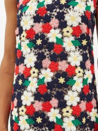 COLVILLE Floral-crochet midi dress ~ vintage look clothing