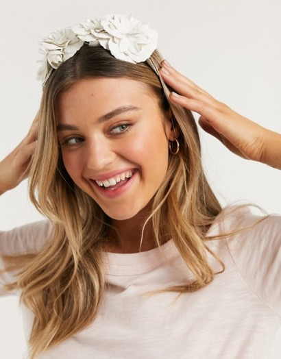 Forever New flower crown in white / headbands / hair accessories