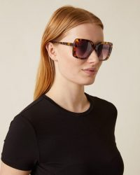JIGSAW FREYA OVERSIZED SUNGLASSES TORTOISESHELL ~ large brown-tone sunnies