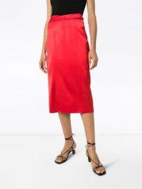 GAUGE81 Soledad satin midi skirt ~ bright skirts