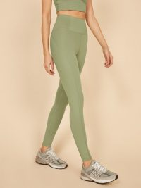 REFORMATION Girlfriend Collective Hi Rise Full Length Pant Olive – green leggings