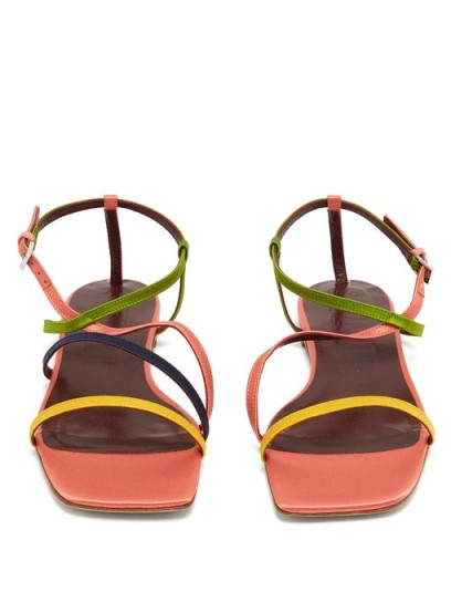 GABRIELA HEARST Smith lace-trimmed silk-blend cami top – strappy summer flats