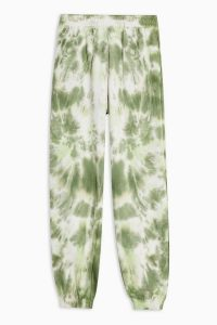 TOPSHOP Green Tie Dye Joggers