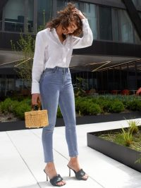 Reformation High & Skinny Crop Darwin Ankle Fray – casual classics
