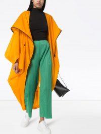ISSEY MIYAKE orange oversized cape