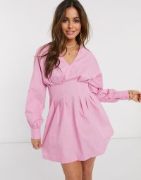 Ivyrevel panelled mini skater dress in pink